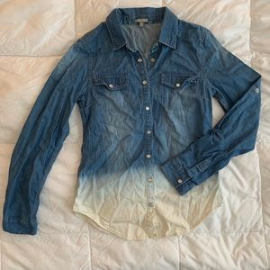 Ombré chambray button down